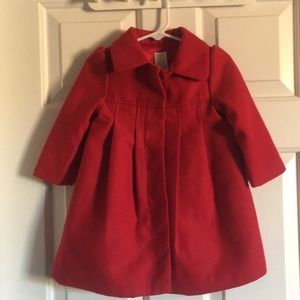 Gymboree red swing dressy jacket coat 12-24 month